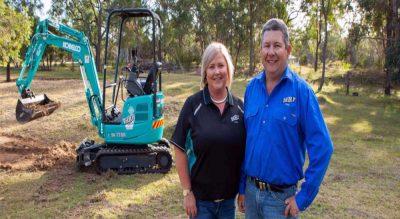 New business kicked off with Kobelco mini excavator