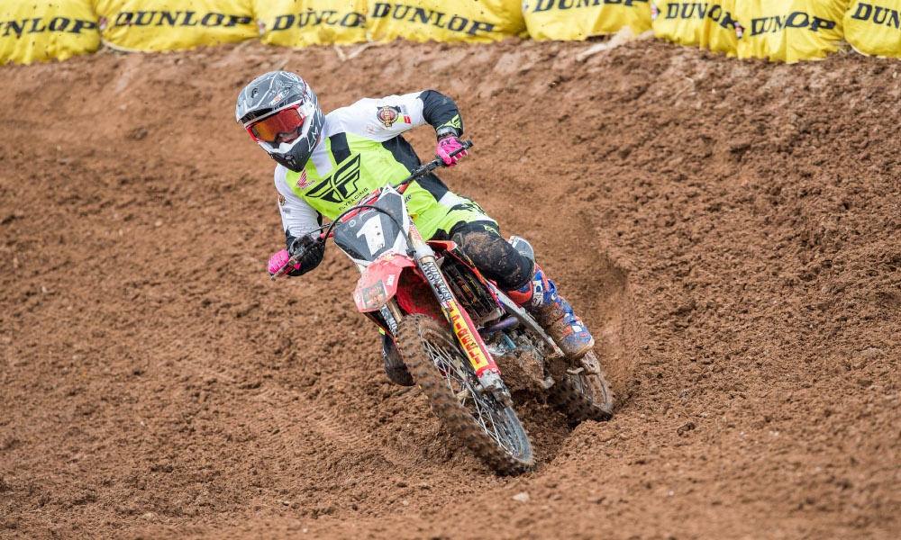 #1 Jackson Richardson (CRF Honda Racing) during qualifying at Round 2 2018 Australian Supercross Championship, Coolum, Queensland Australia on October 06 2018