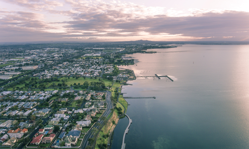 geelong aerial stock