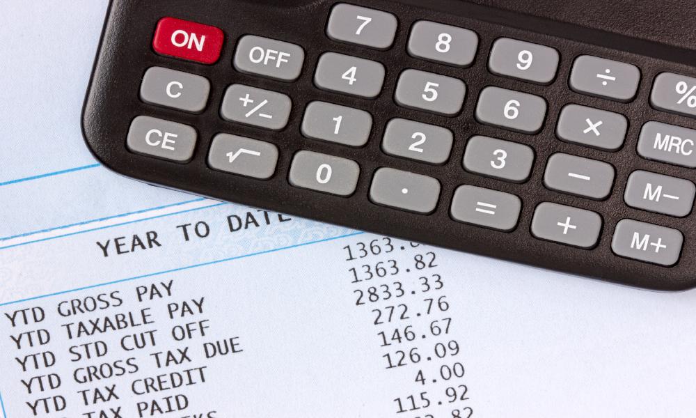 payroll tax stock image