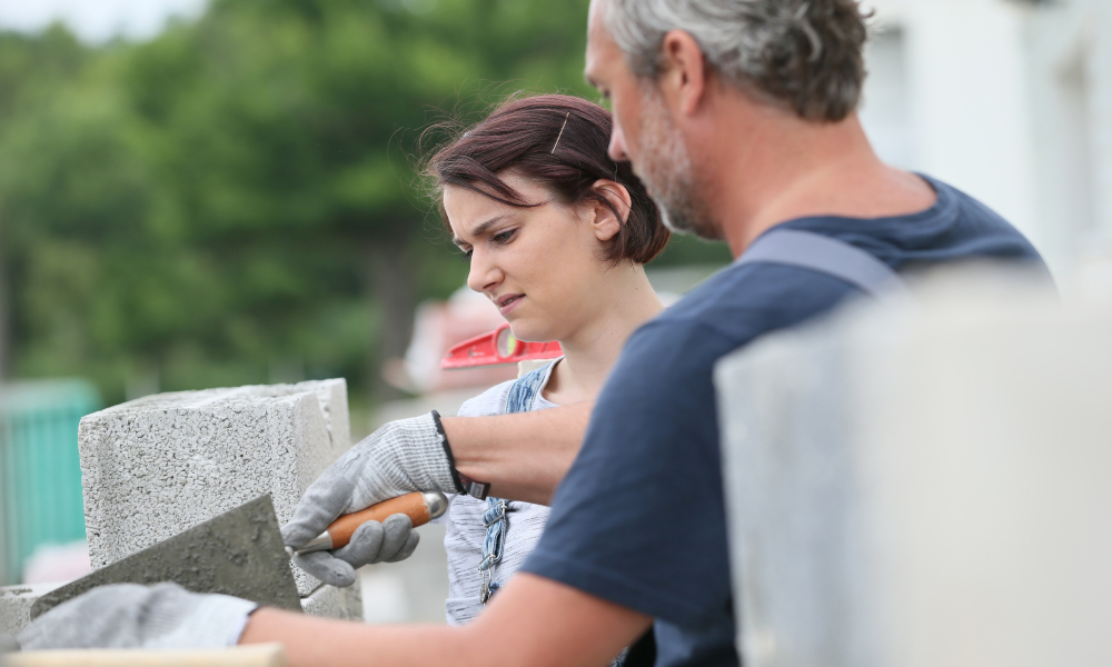 training stone masonry construction stock