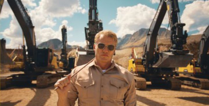 Watch how a Hollywood action hero gives Volvo excavators the…