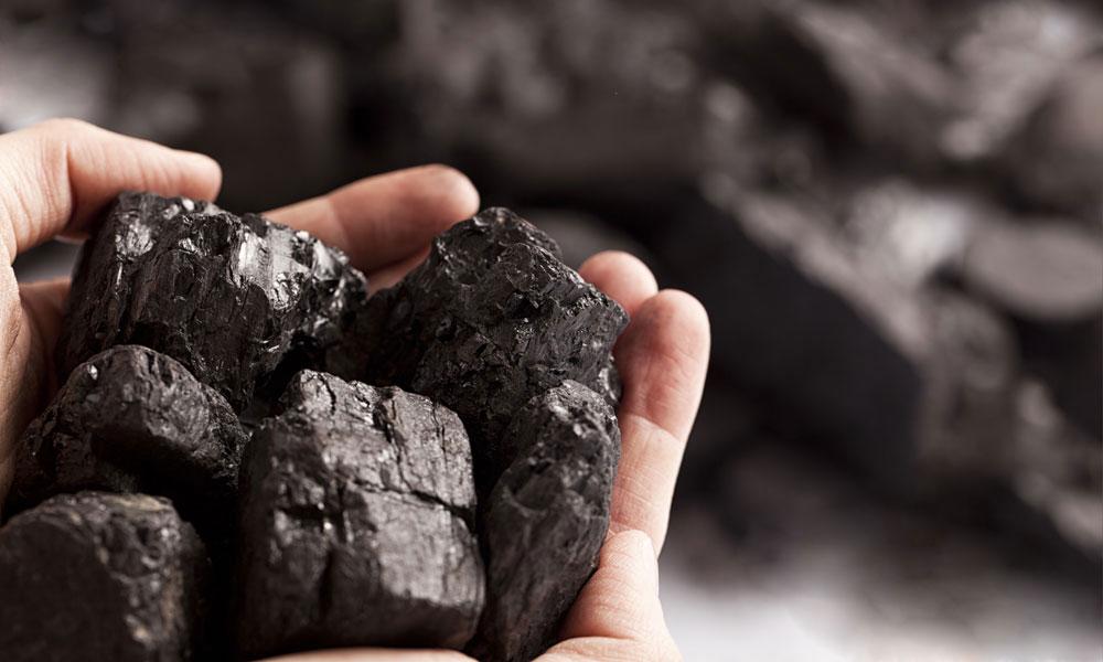 coal clumps stock image
