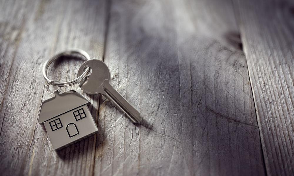 home keys stock image