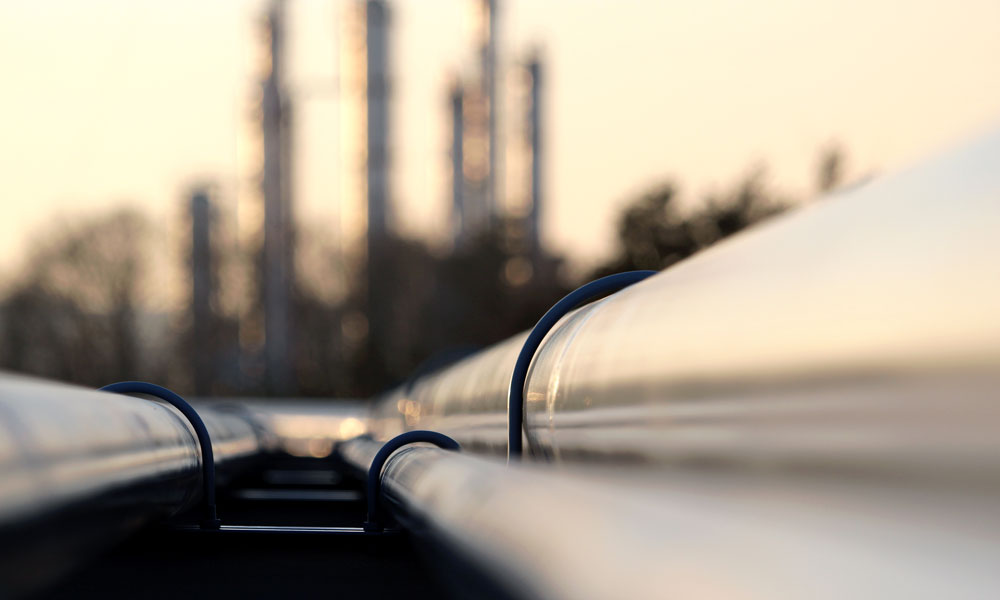 gas pipeline stock image