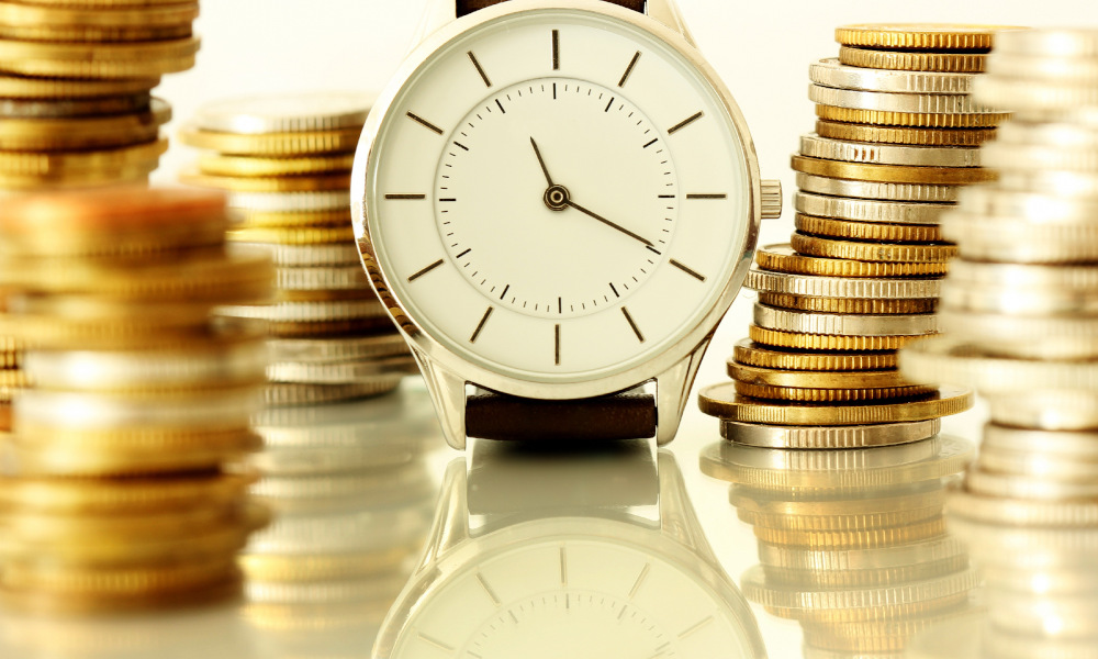 payment times stock image