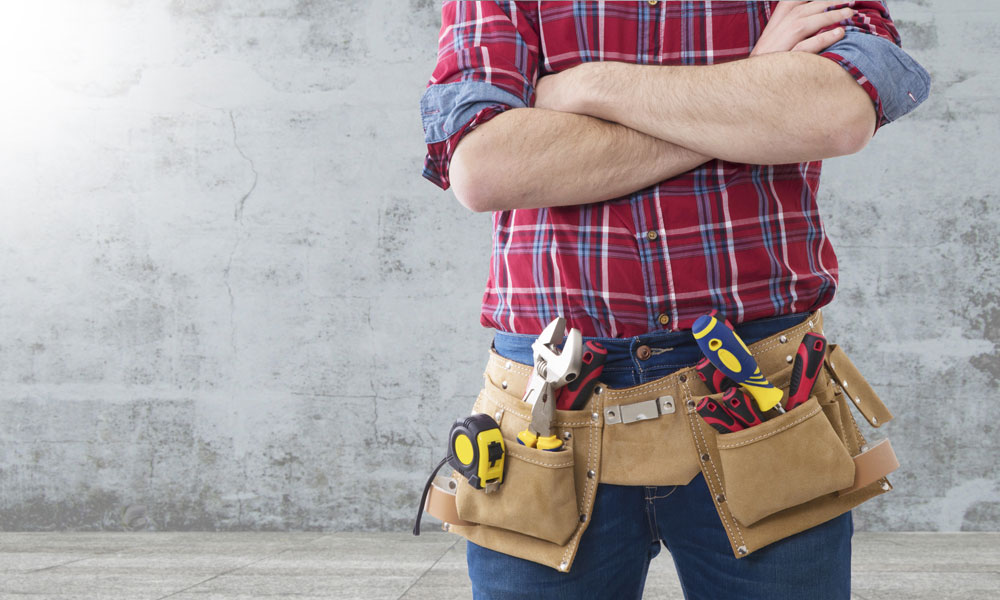 builder man stock image