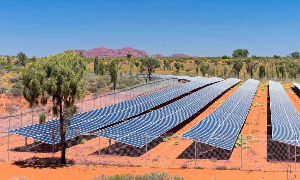 solar panels nt stock image