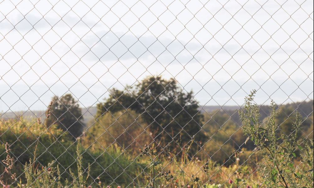 fence cell fencing stock image