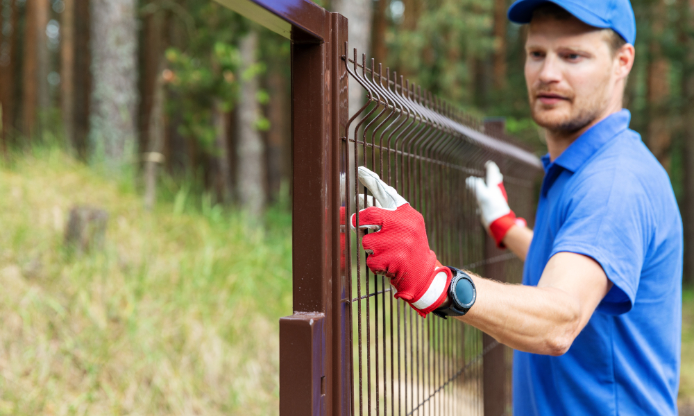 fence safety stock image