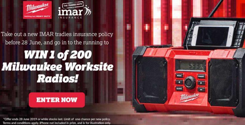 Win A Milwaukee Worksite Radio with IMAR Insurance