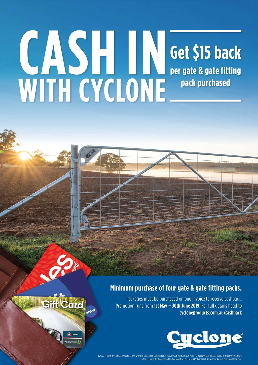cash in with cyclone