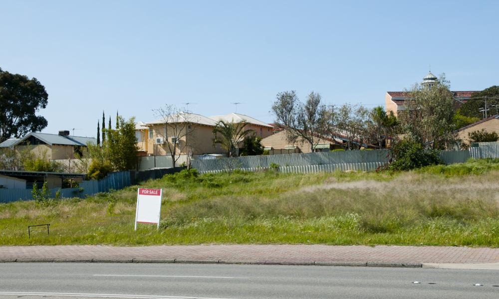 perth housing land stock image