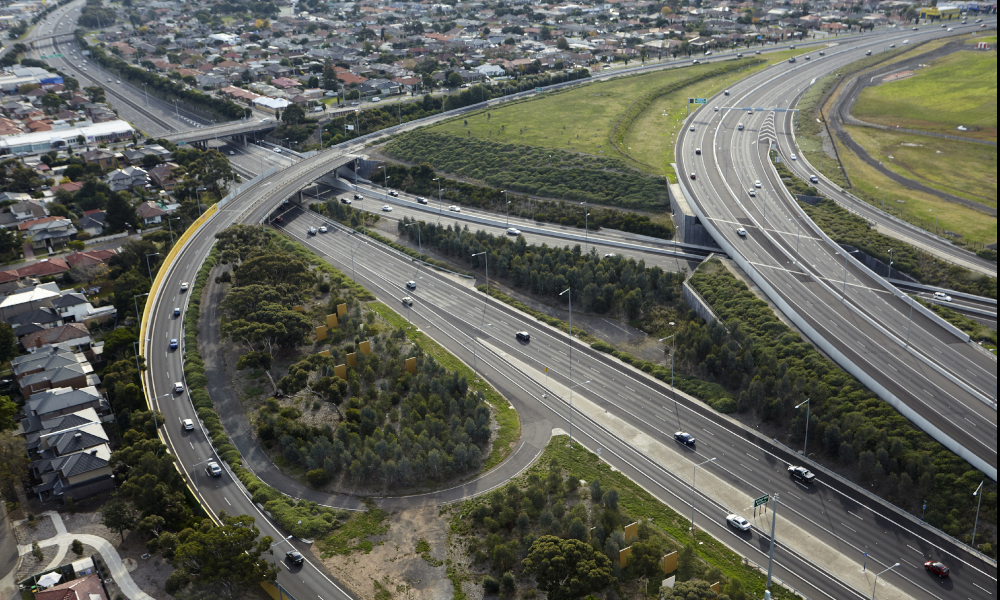 victoria infrastructure roads stock image