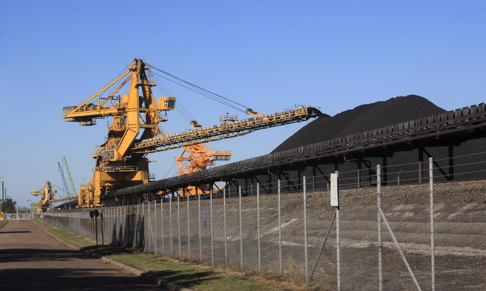 mining fence stock image