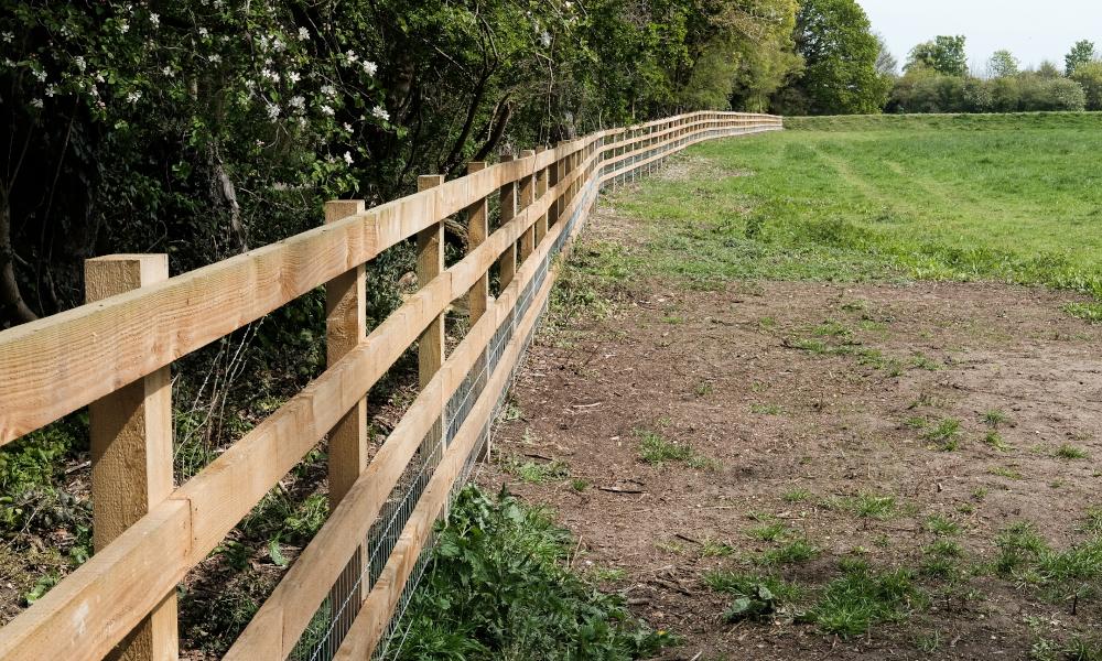 perimeter fencing stock image