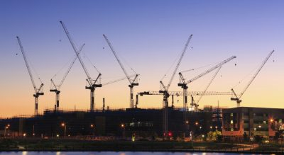 Commercial construction faced mixed outlook after a high