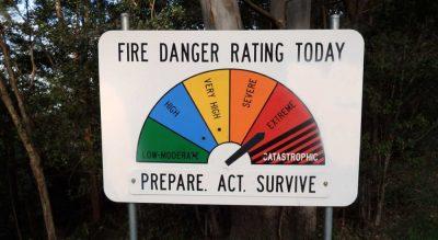 Working in high bushfire risk areas